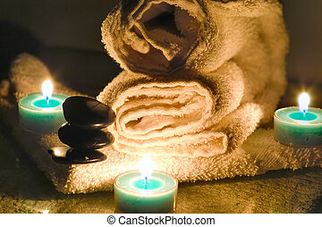 Spa series - romantic spa treatment setup