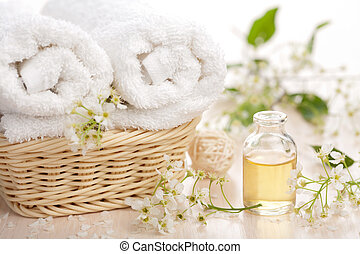 spa, set, aromatherapy