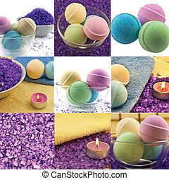 Spa set collage