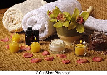 Beautiful spa setting
