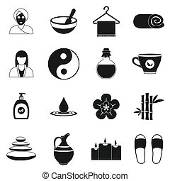 Spa simple icons set