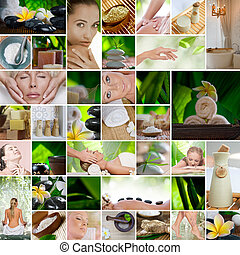 spa - Spa theme  photo collage composed of different images