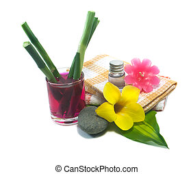 Spa still life with flower