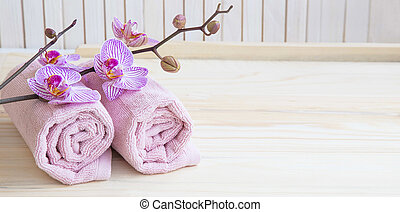 Spa still life with orchid