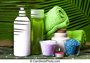 Spa still life with zen - Spa and body care composition