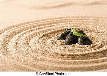 Spa still nature zen stones in sand - Spa still nature zen...