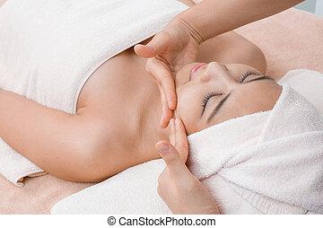 Spa - face massage in Thai spa