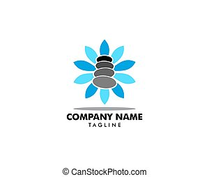 Spa Stone Logo Template Vector Illustration