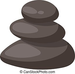Spa stones isolated vector illustration. - Growing piled up...
