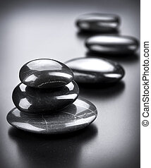 Spa Stones over Black