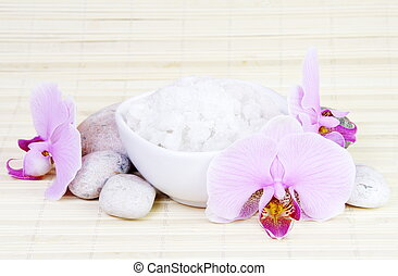 Spa Stones, Sea Salt and Orchids