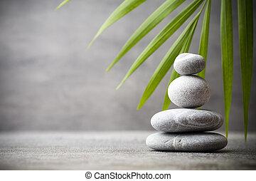 Spa stones. - Stones spa treatment scene, zen like concepts.