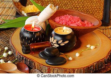 spa, tailandês, massage.