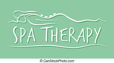 spa, thérapie, gabarit