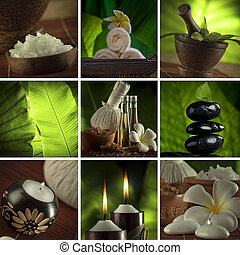 spa theme mix - Spa theme collage composed of a few images
