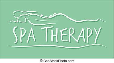 spa, therapie, schablone