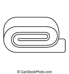 Spa towel icon, outline style - Spa towel icon. Outline...