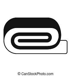 Spa towel icon, simple style - Spa towel icon. Simple...