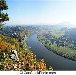 Spa town Rathen in Saxony