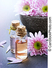 Spa treatment. Aromatherapy. Essential Oil