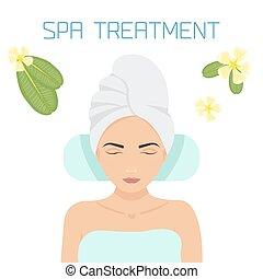 Spa treatment illustration