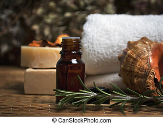 spa and body care composition with aromatherapy oil and natural soap