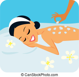 Spa treatment with gems