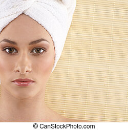 Spa treatment - Young sexy woman getting spa treatment...