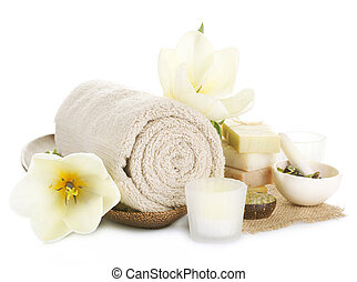 Spa Treatments Isolated On White