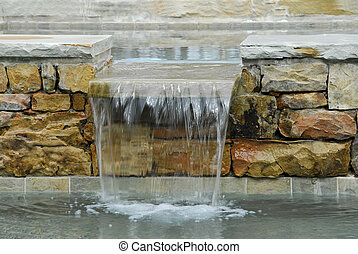 Stone water feature for SPA and Swimming Pool
