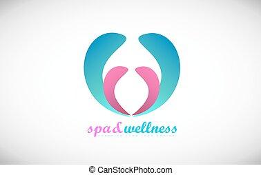 Spa wellness abstract beauty salon logo icon design