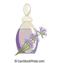 Spa still life icons with water lily and zen stone in...
