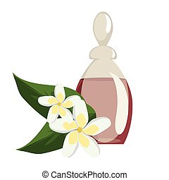 Spa still life icons with water lily and zen stone in serenity pool vector.