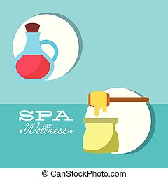 spa wellness related - depilatory wax and oil massage ...