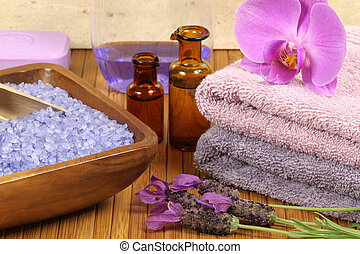 Spa wellness - Spa relaxation composition - bath soap,...