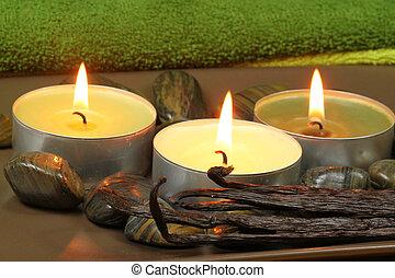 Spa with vanilla aroma