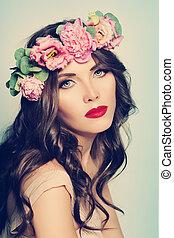 spa, woman., mode, beauty, verticaal