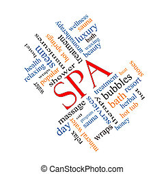 Spa Word Cloud Concept Angled