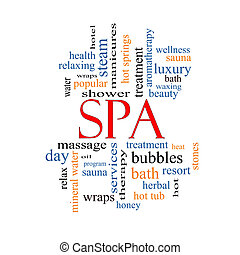 Spa Word Cloud Concept