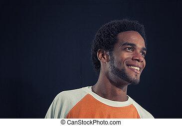 spaans, afrikaan, jonge, vrijstaand, man