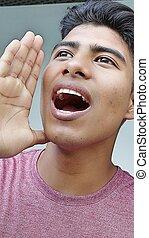 spaans, mannelijke , het zingen