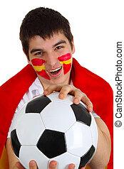 spaanse , voetbal, ventilator