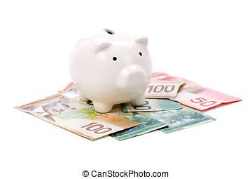 spaardose, und, kanadische dollar