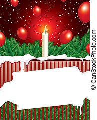 spac, kopie, kerstmis, achtergrond