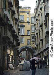 spaccanapoli, ulica, od, neapol, pod, przedimek określony...