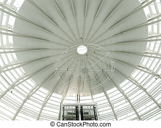 space age white dome roof