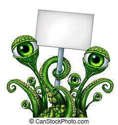 Space Alien Creature Sign - Space Alien Creature from outer...