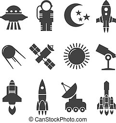 Space and astronomy vector icons
