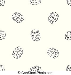 Space asteroid pattern seamless vector repeat geometric for...