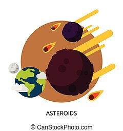 Space Asteroids Vector Image